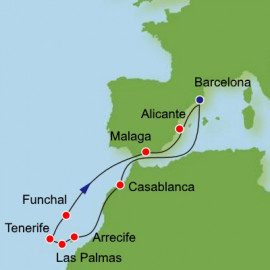 Canary Islands and Spain and Morocco Itinerary