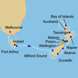 Tasmania and New Zealand Voyage Cruise