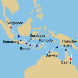 Australia and Indonesia Voyage Itinerary
