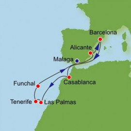 Canary Islands Spain and Morocco Itinerary