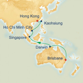 Brisbane to Hong Kong Princess Cruises Cruise