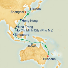 Shanghai to Brisbane Itinerary