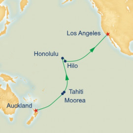 Hawaii and Tahiti and South Pacific Crossing Itinerary