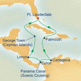 Panama Canal with Costa Rica and Caribbean Itinerary