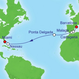 Spain to Miami Royal Caribbean Cruise