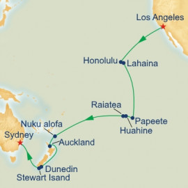 World Cruise Segment Hawaii and South Pacific Itinerary