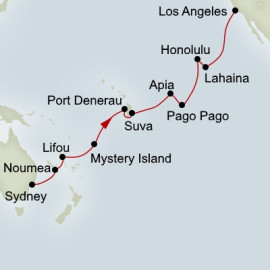 Sydney to Los Angeles Grand Asia and Pacific Voyages Itinerary