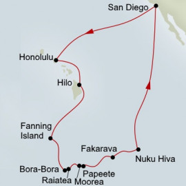 Hawaii Tahiti and Marquesas Itinerary