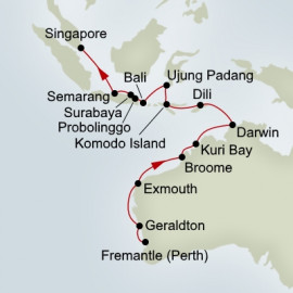East Indies and Coral Seas Itinerary