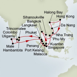 Indian Ocean and Southeast Asia Explorer Holland America Line Cruise