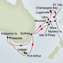 South Australia and Pacific Treasures Collector Holland America Line Cruise