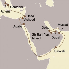 Arabian Gems and Holy Land Itinerary