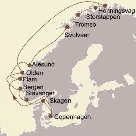 Majestic Fjords and North Cape Itinerary