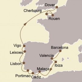 Gems of Iberia and France Itinerary