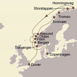 Scenic Fjords and North Cape Itinerary