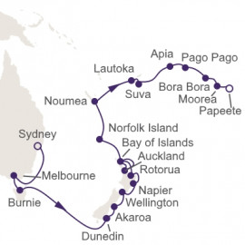 Pacific Wonder Itinerary