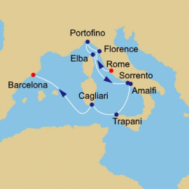 Italy Intensive Voyage Itinerary