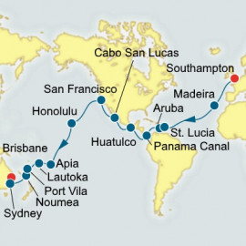 Southampton to Brisbane World Sector Cruise