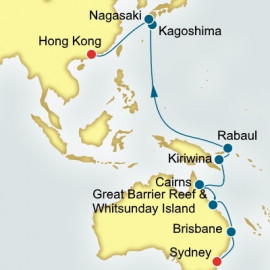 Sydney to Hong Kong World Sector P&O Cruises UK Cruise