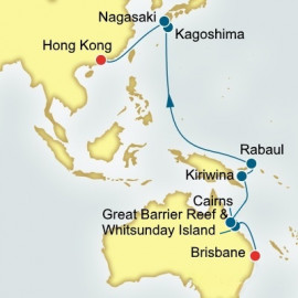 Brisbane to Hong Kong World Sector P&O Cruises UK Cruise