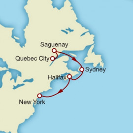 Quebec Halifax and New York Cunard Cruise