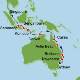 Journey Down Under from Singapore Itinerary