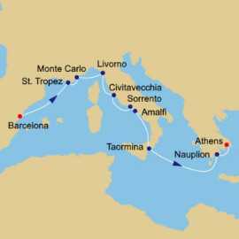 Jewels Of The Med Itinerary