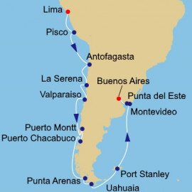 South America Pursuit Itinerary