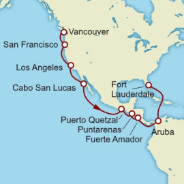 Vancouver to Fort Lauderdale  Cunard Cruise