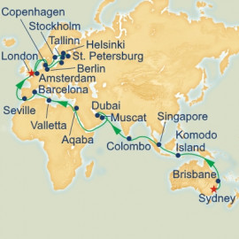 World Cruise Sydney to London Sector Cruise