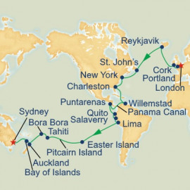World Cruise London to Sydney Sector Itinerary