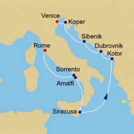 Amalfi To Dalmation Itinerary