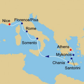 Greece and Italy Pursuit Itinerary