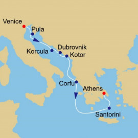Dalmatian Coast to Athens Itinerary