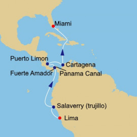 Peru Panama and Colombia Voyage Itinerary