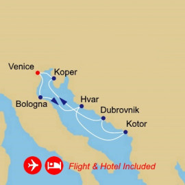 Fly Cruise Holiday Adriatic and Wonders Azamara Club Cruises Cruise