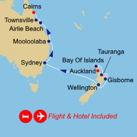 Fly Stay and Australia New Zealand Azamara Club Cruises Cruise
