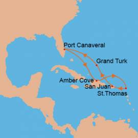 Eastern Caribbean Adventure Carnival Cruises International  Cruise