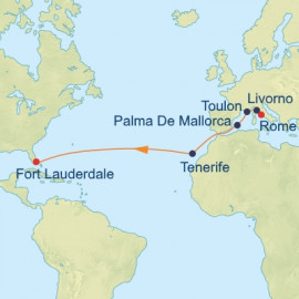 Civitavecchia to Fort Lauderdale Itinerary