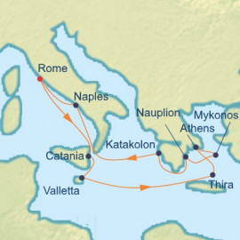 Italy Malta and Best Of Greece Itinerary