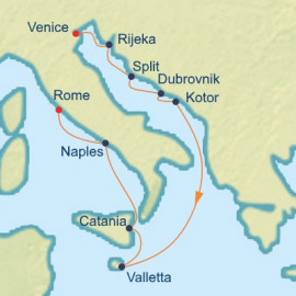 Dalmatian Coast and Italy  Itinerary