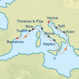 French Riviera and Dalmatian Coast Itinerary