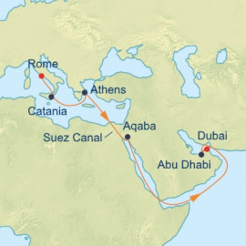 Arabian Sea and Suez Canal Itinerary