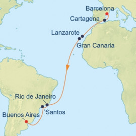 Barcelona to Buenos Aires Celebrity Cruises Cruise