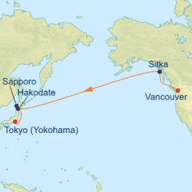 Bering Sea and Japan Transpacific Itinerary