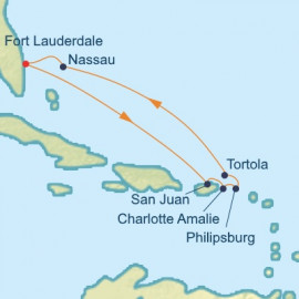 Eastern Caribbean and the Bahamas Itinerary
