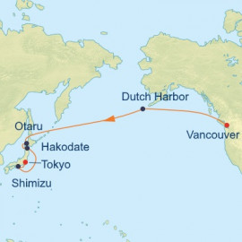 Bering Sea and Japan Itinerary