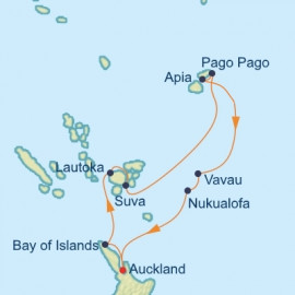 South Pacific Fiji and Tonga Itinerary