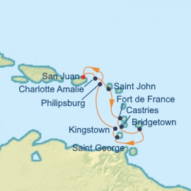 Lesser Antilles Caribbean Itinerary