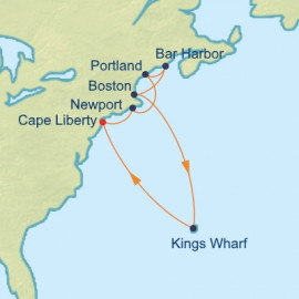 Bermuda and New England Itinerary